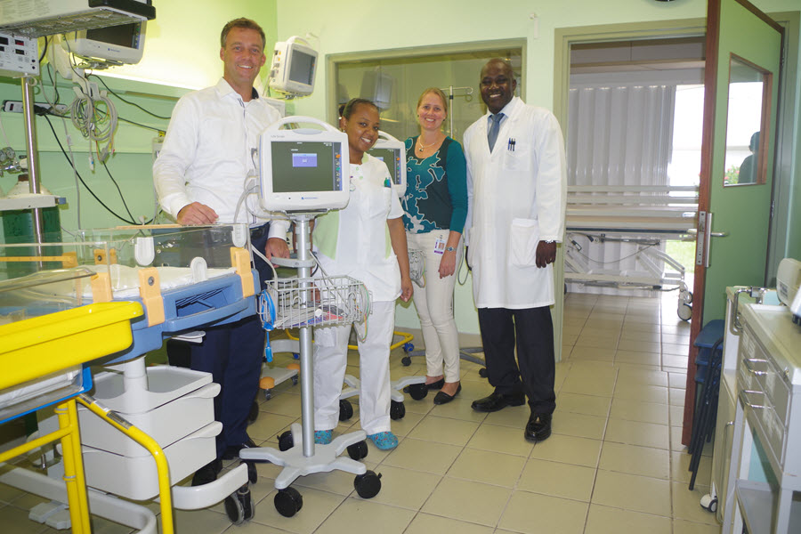 New patient monitoring for the SMMC the Pediatric ward