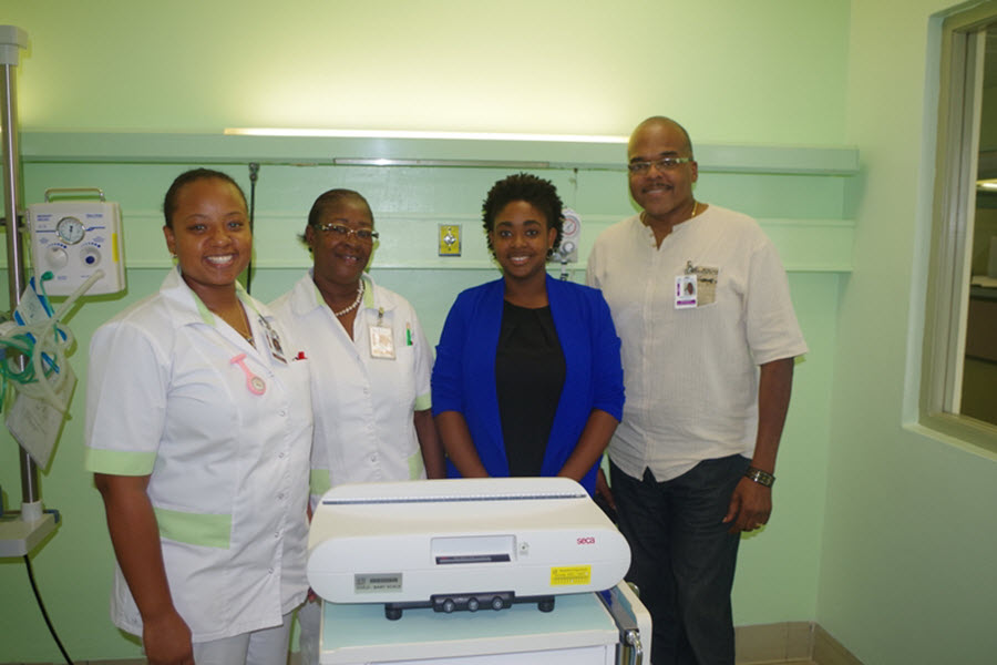 Baby Scale Donated to Pediatric Ward